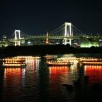 東京夜景 レインボーブリッジ 船清 全船集合