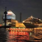 Tokyo night view Harumi passenger ship terminal