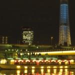 東京スカイツリー 展望デッキから間近に望む 夜景