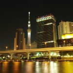 Art object of Tokyo Skytree Asahi Breweries flame