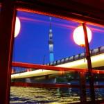 東京スカイツリー 船窓から望む