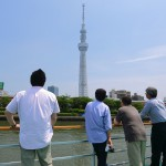 Lunch view to expect close from Tokyo Skytree observation deck