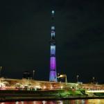 隅田川花見 夜桜とスカイツリー01