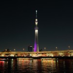 Sumida River cherry blossom viewing going to see cherry blossoms at night and Skytree 02